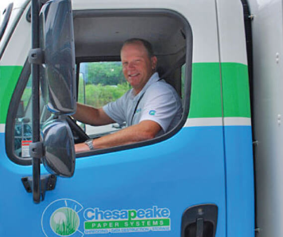 Chesapeake Shredding Truck and Driver